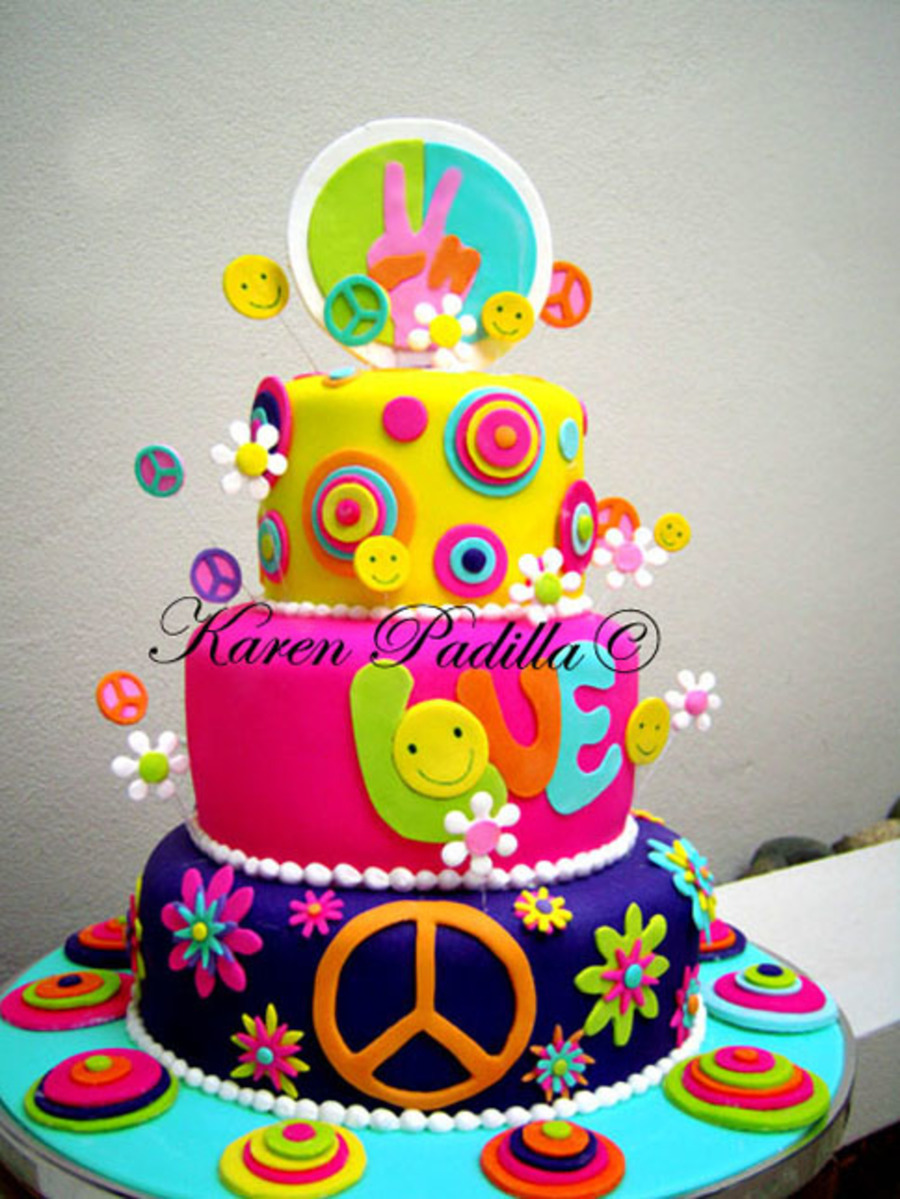 Groovy Cake!!! on Cake Central