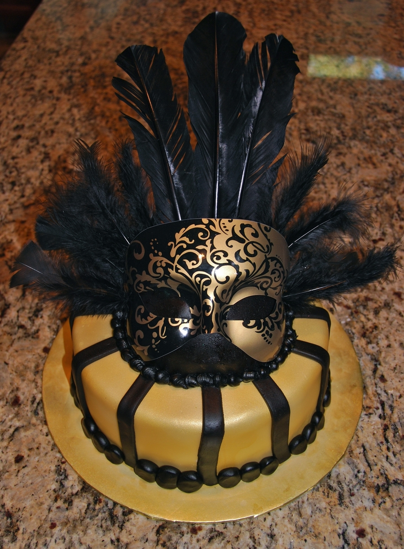 Masquerade Mask Cake Ideas