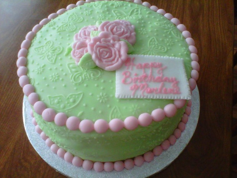 Pink And Green Birthday on Cake Central