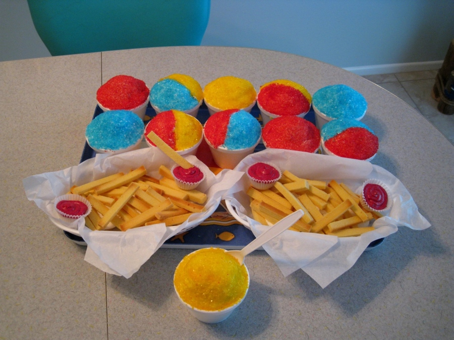 Snow Cones And French Fries on Cake Central