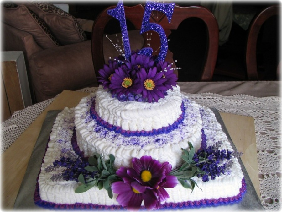 Purple Quincea?ero Cake on Cake Central
