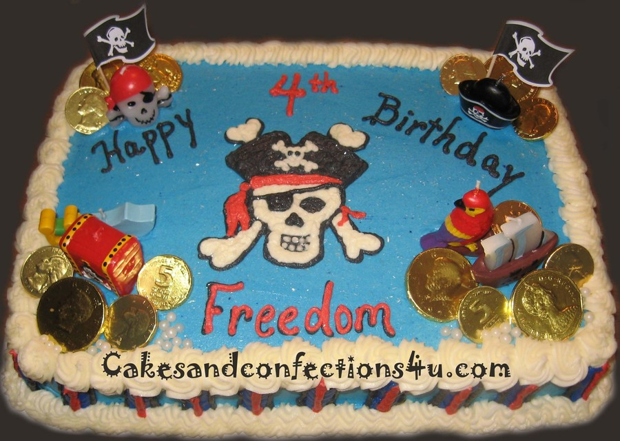 Pirates Treasure Hunt Cake on Cake Central
