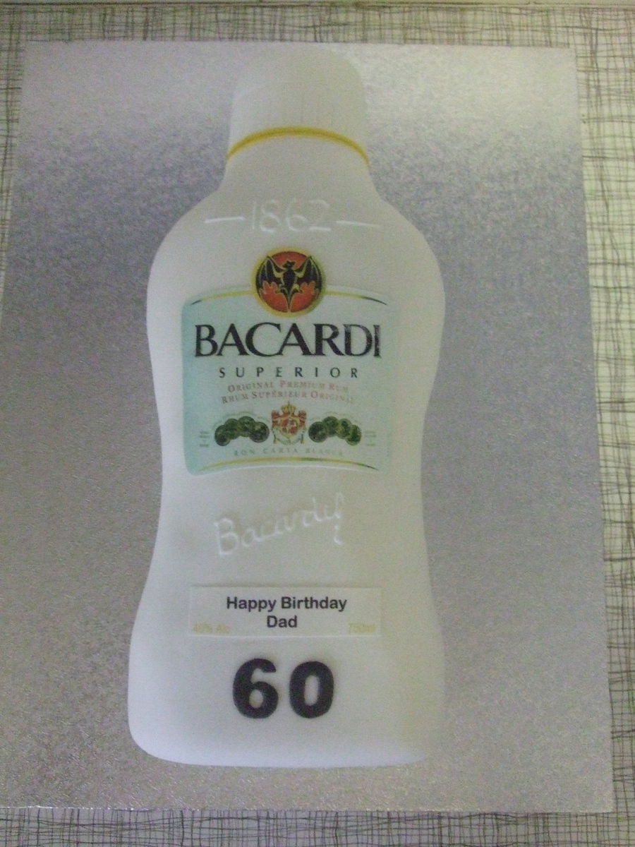 Bacardi Bottle  on Cake Central