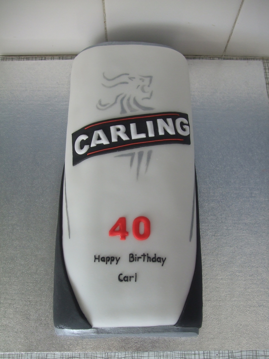 Carling Lager Can on Cake Central