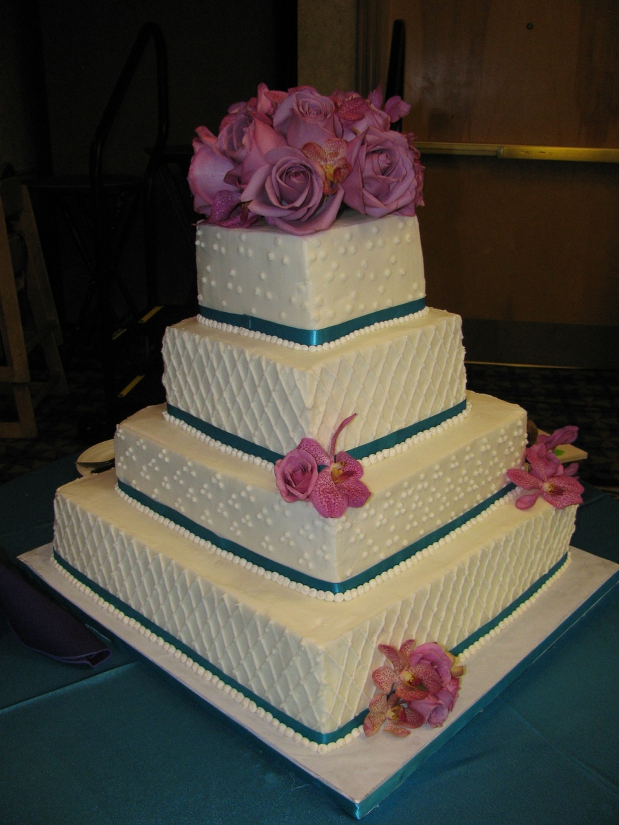 4-Tier Buttercream Wedding Cake on Cake Central