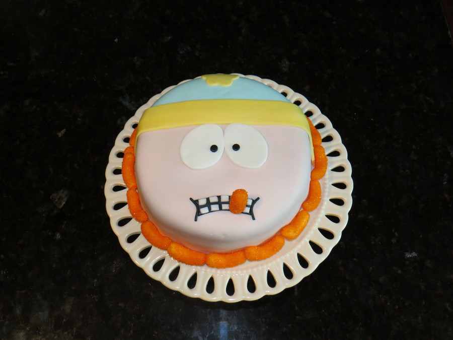 Cartman Cake All Fondant Including Cheesy Puffs on Cake Central