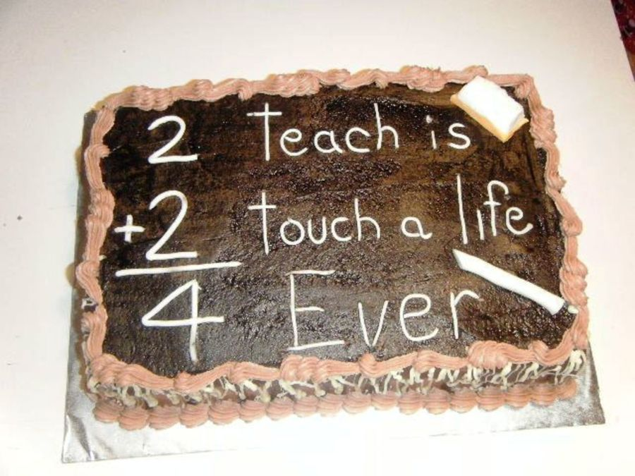 Chalkboard Teacher's Cake on Cake Central