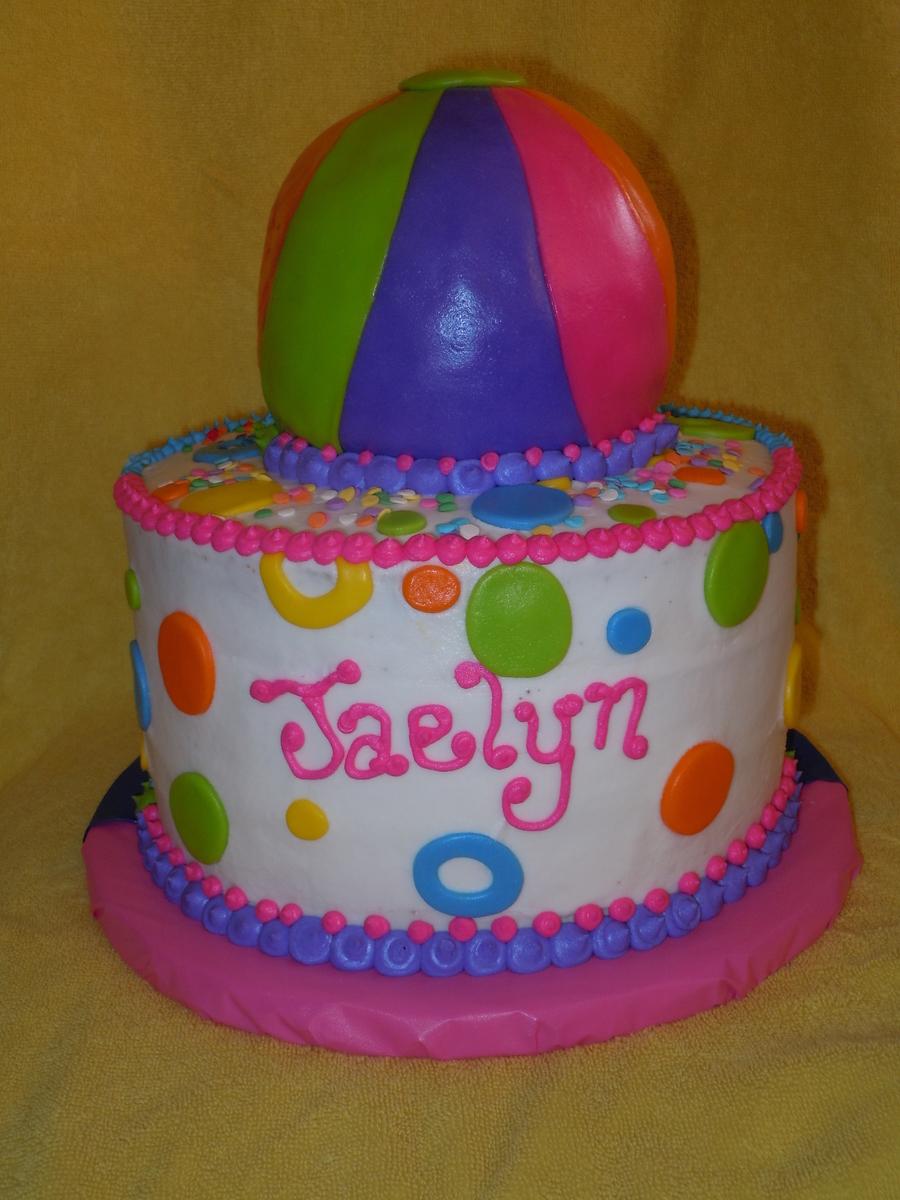 Fabulous Beach Ball Cake Cakecentral Com Birthday Cards Printable Benkemecafe Filternl