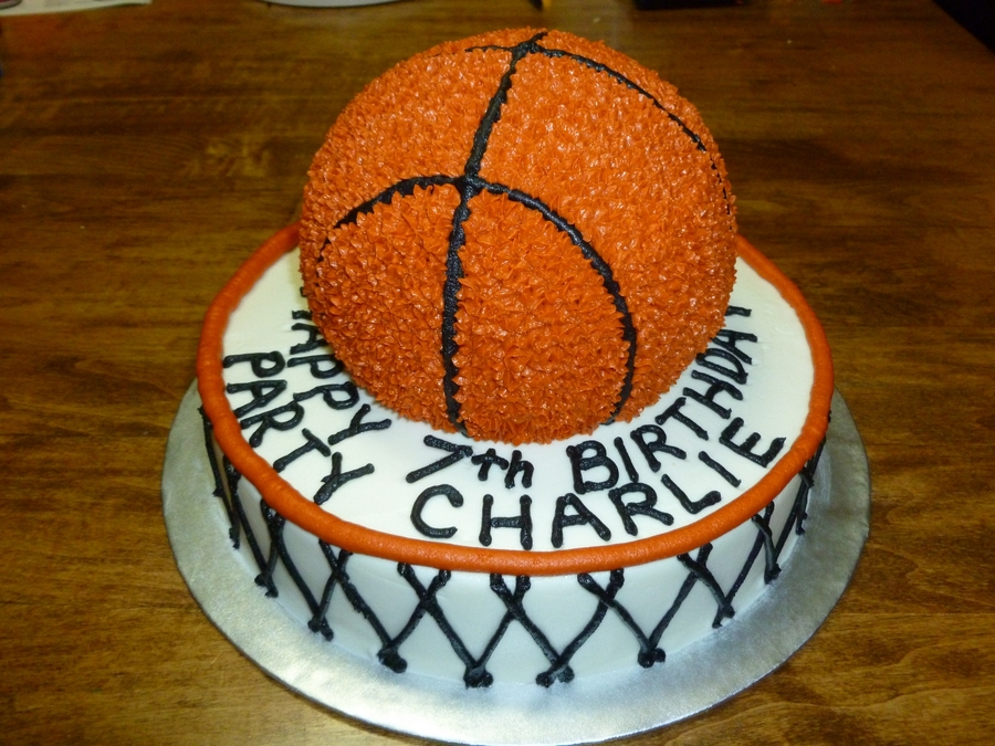 Basketball In Hoop on Cake Central