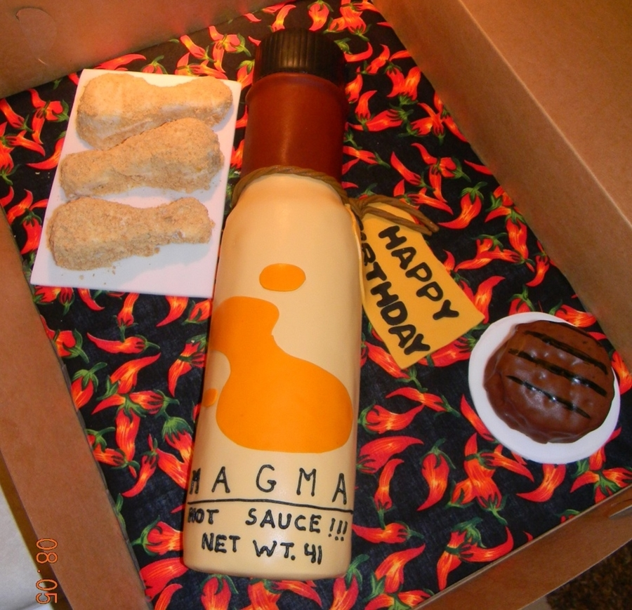 Magma Hot Sauce on Cake Central