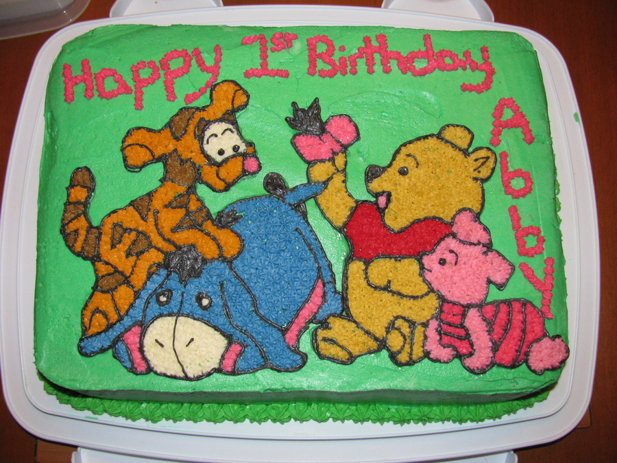 Baby Pooh And Friends - CakeCentral.com