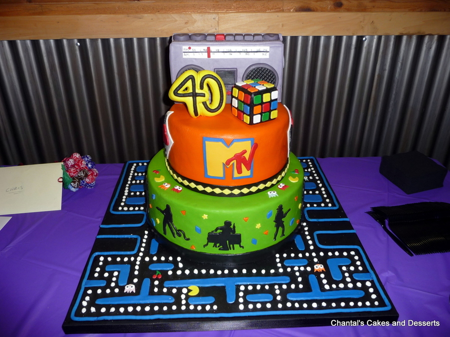 80s cake for 80 birthday decoration ideas
