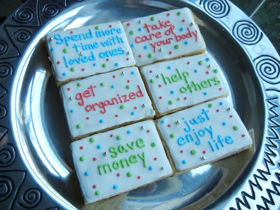 New Year's Resolution Cookies on Cake Central