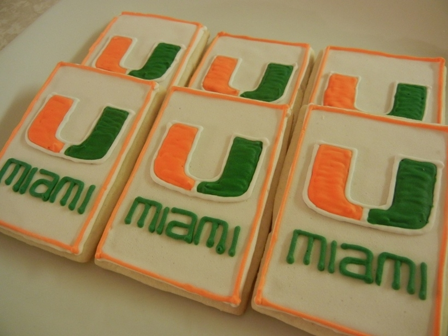 University Of Miami Cookies on Cake Central