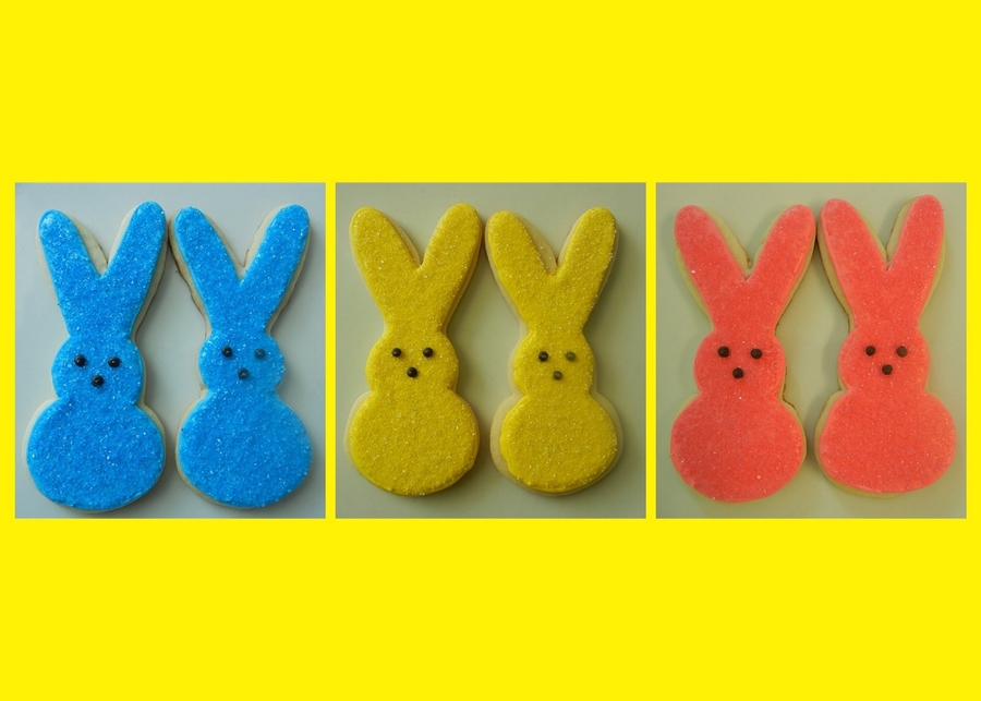 Peeps Bunny Cookies on Cake Central