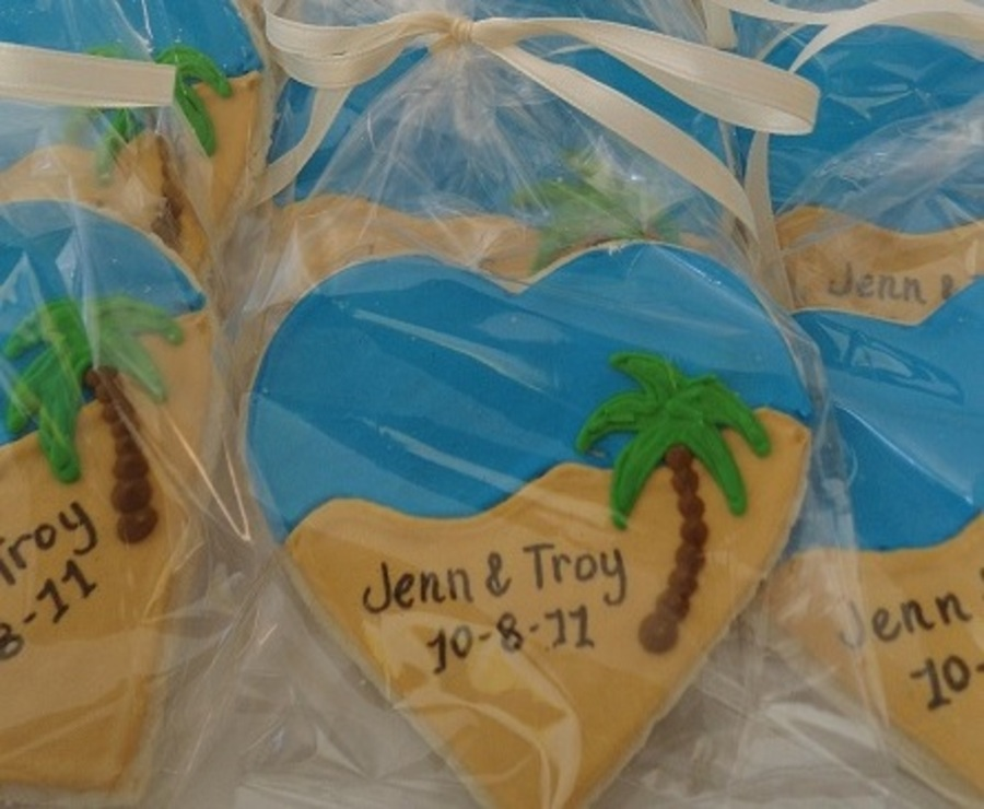 Beach Wedding Cookies on Cake Central