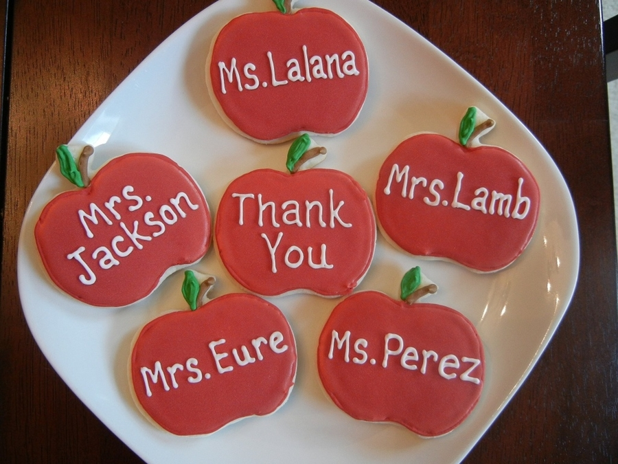 Teacher Appreciation Cookies on Cake Central