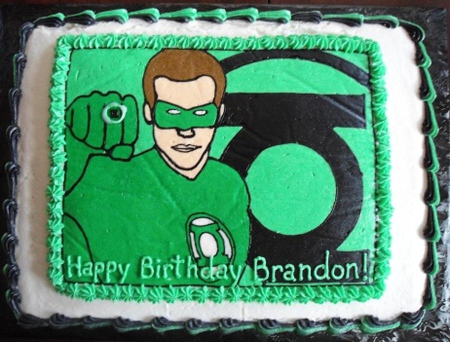 Astonishing Green Lantern Cake Cakecentral Com Funny Birthday Cards Online Amentibdeldamsfinfo