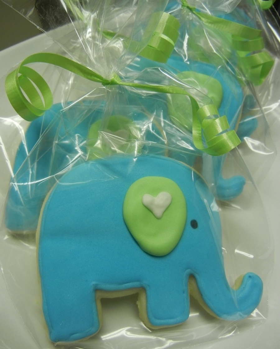 Elephant Baby Shower Cookies on Cake Central