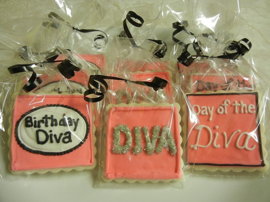 Birthday Diva Cookies on Cake Central