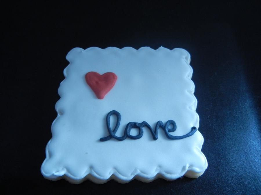 Love Stamp Cookie on Cake Central