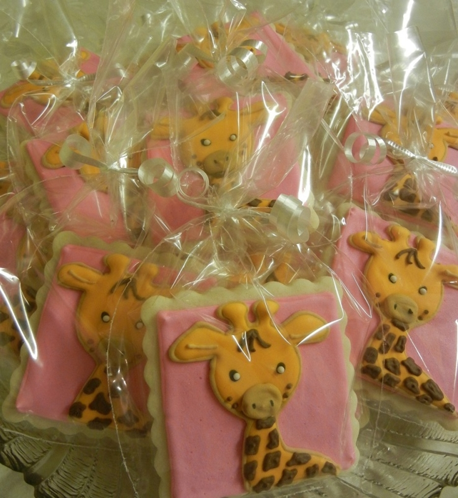 Pink Giraffe Cookies on Cake Central