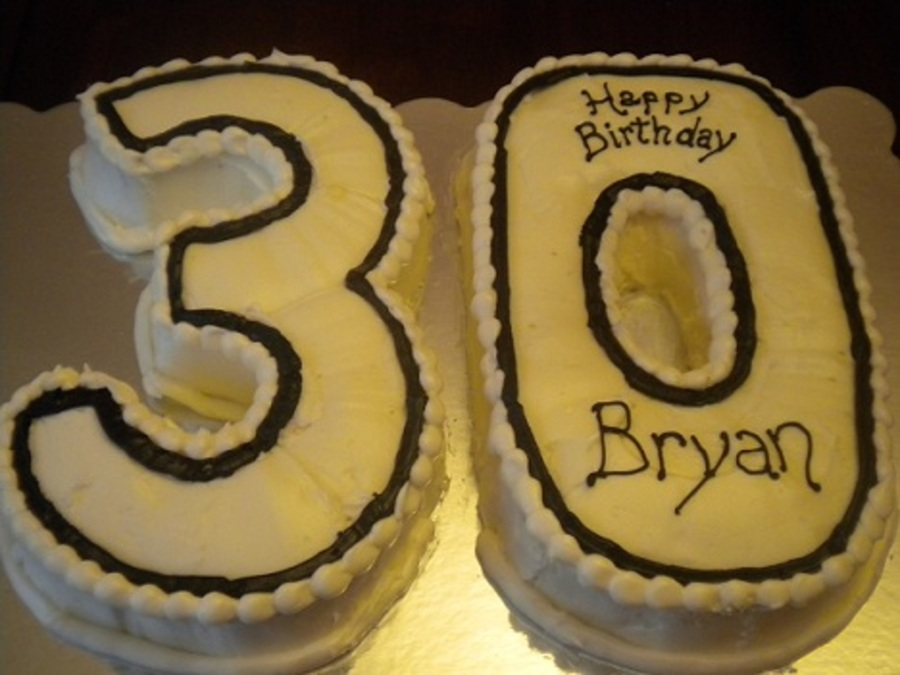 Number 30 Birthday Cake CakeCentralcom