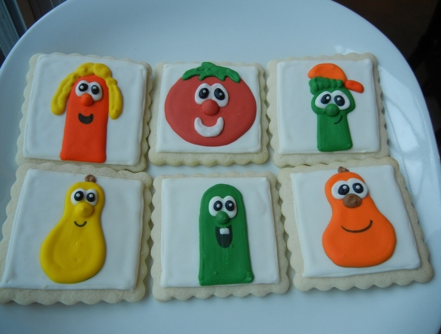 Veggie Tales Cookies  on Cake Central