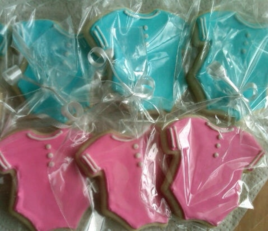 Blue And Pink Onesie Cookies on Cake Central