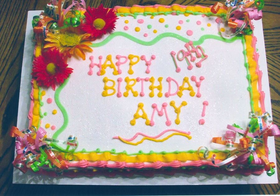 Happy Birthday Amy on Cake Central