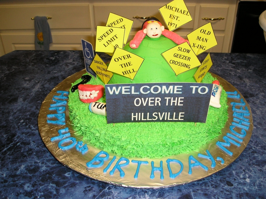 Groovy Over The Hill Birthday Cake Cakecentral Com Funny Birthday Cards Online Aeocydamsfinfo