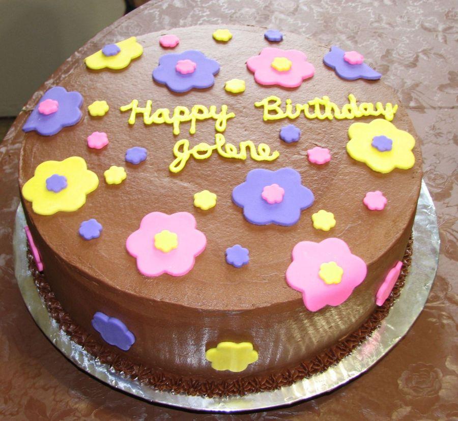 Fondant Flower Birthday Cake Cakecentral