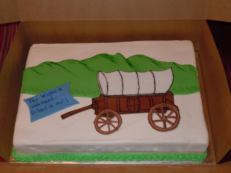 Oregon Trail Cake. on Cake Central