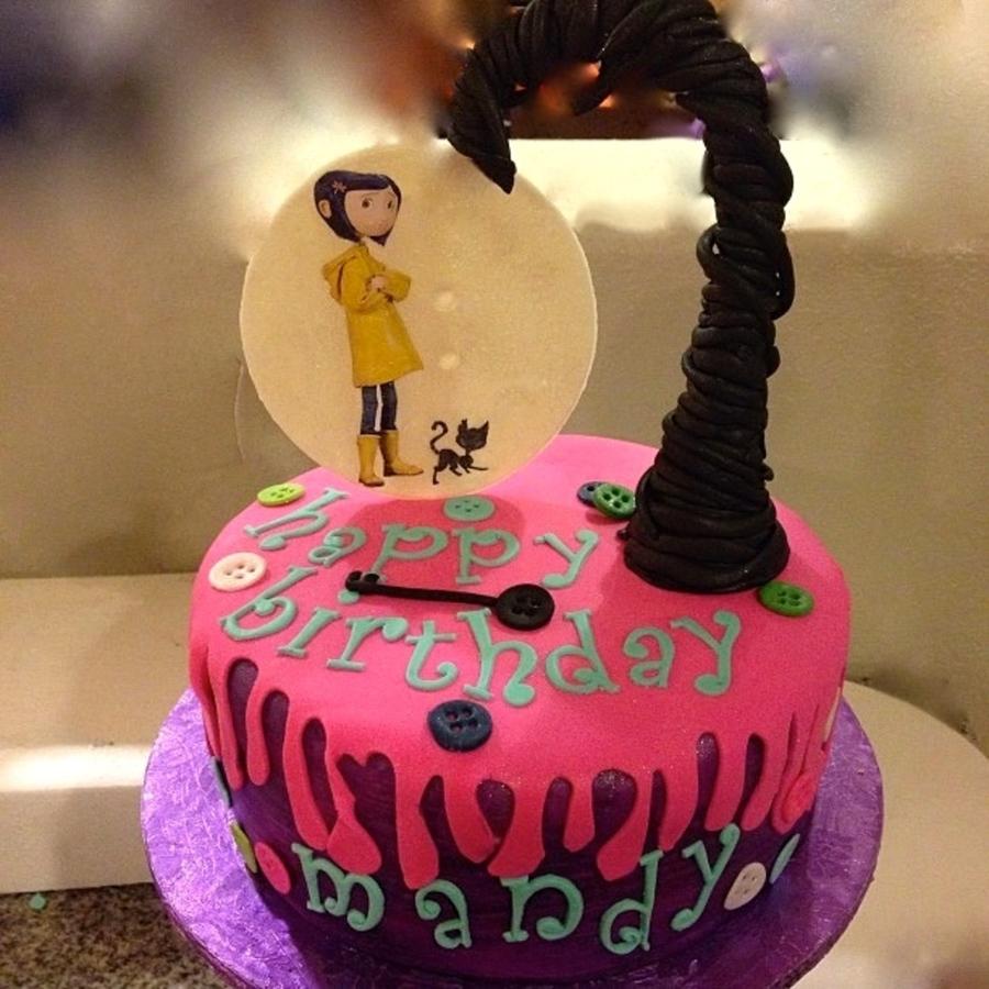 Brilliant Coraline Birthday Cake Cakecentral Com Funny Birthday Cards Online Inifodamsfinfo