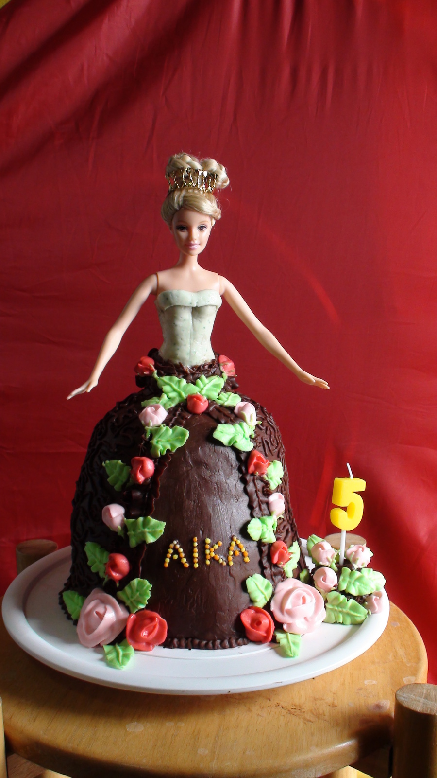 Choco Skirt Barbie Cake  on Cake Central