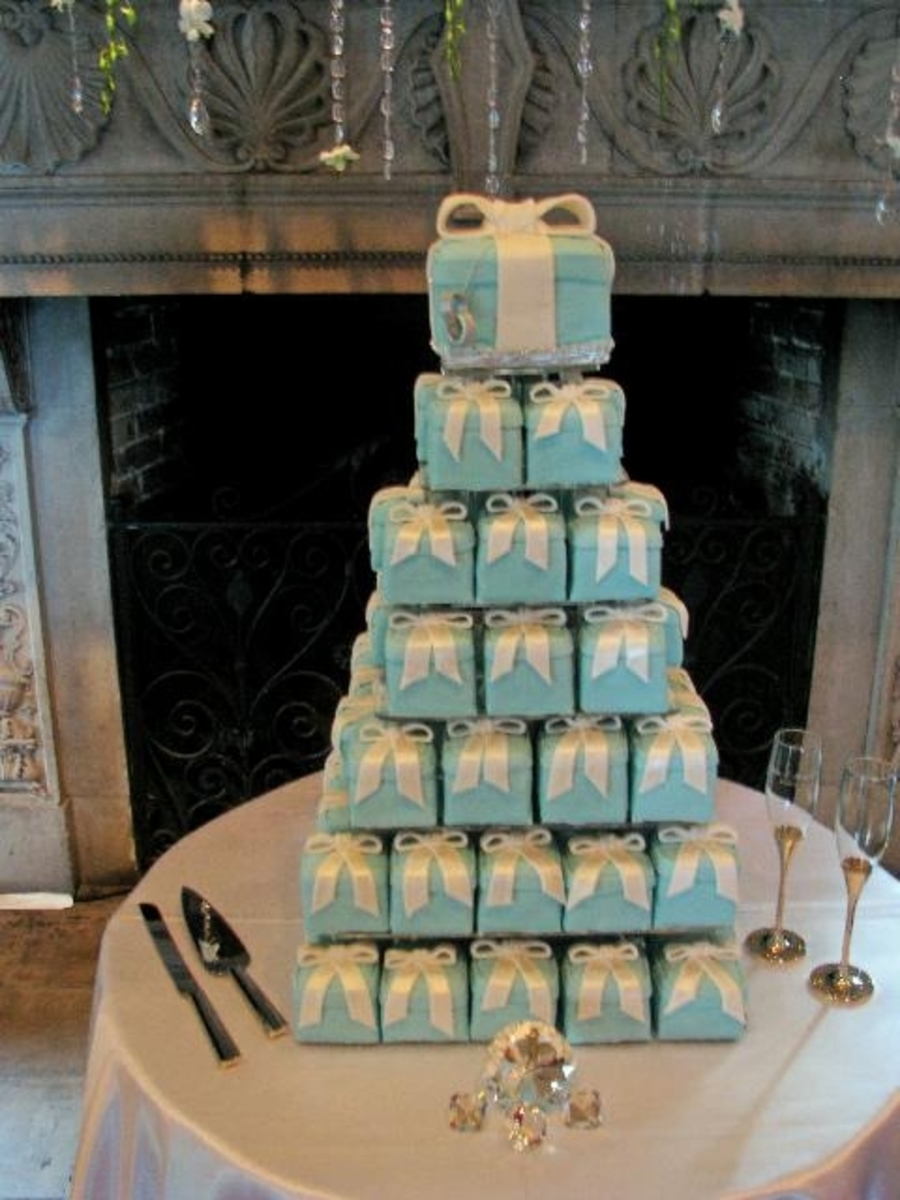 Tiffany Box Mini Wedding Cakes on Cake Central