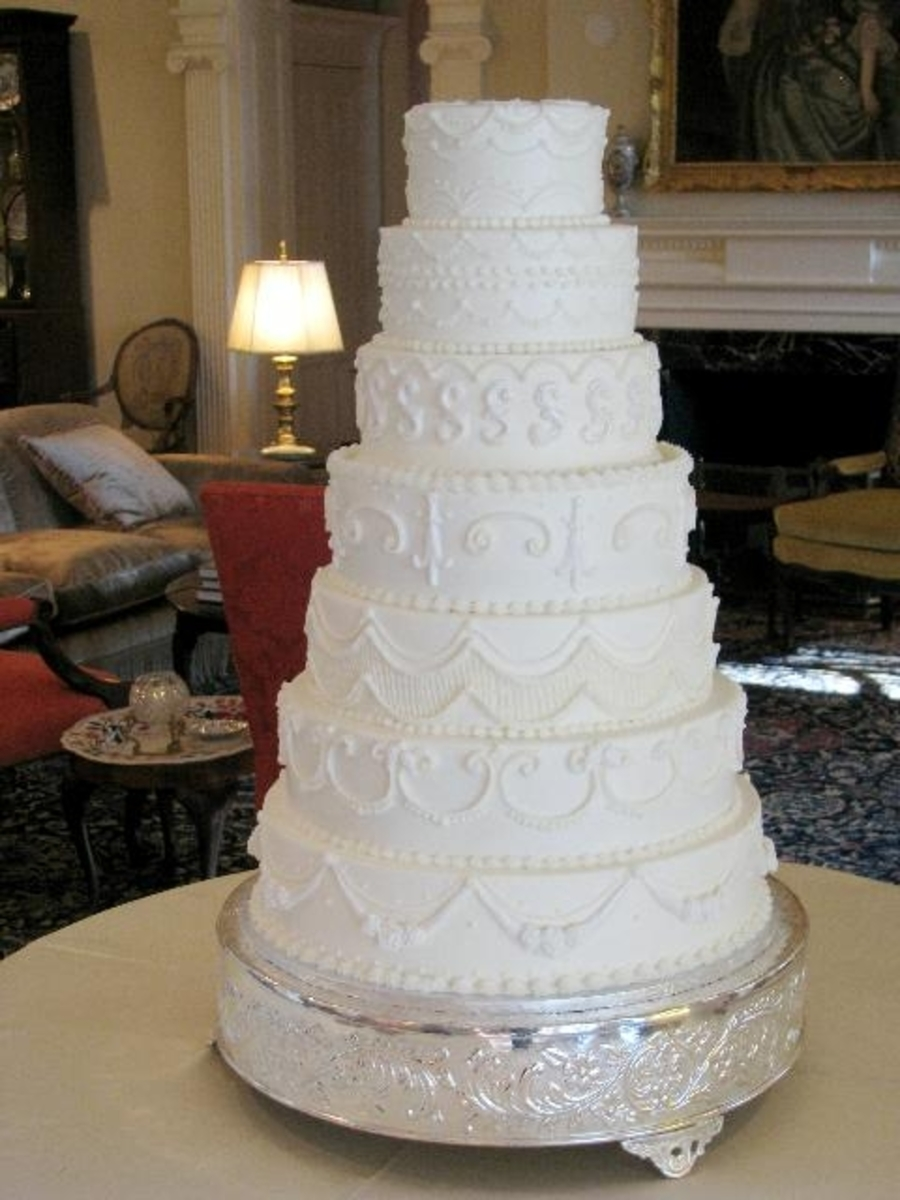 Martha Stewart Inspired Wedding Cake on Cake Central