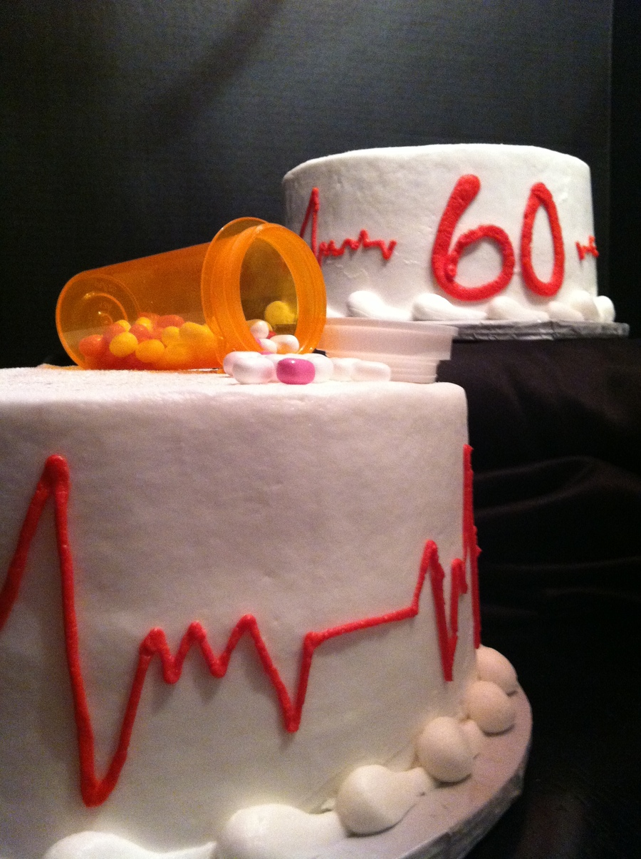 60th Birthday Cake For A Retired Nurse Cakecentral Com