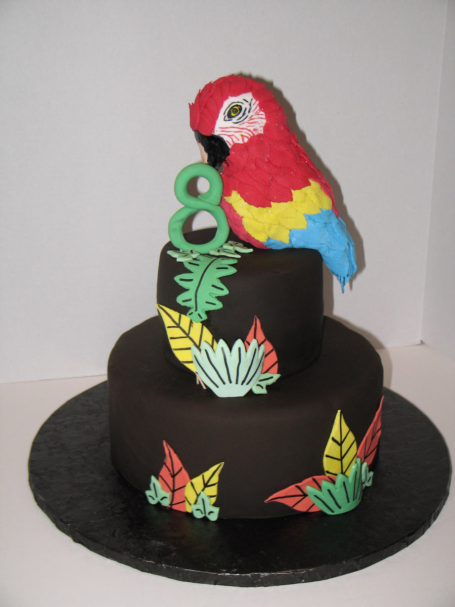 Scarlet Macaw Bird Cake Cakecentral Com