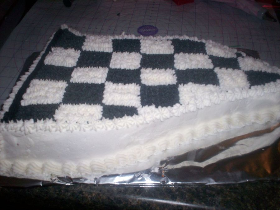 Checkered Flag - CakeCentral.com