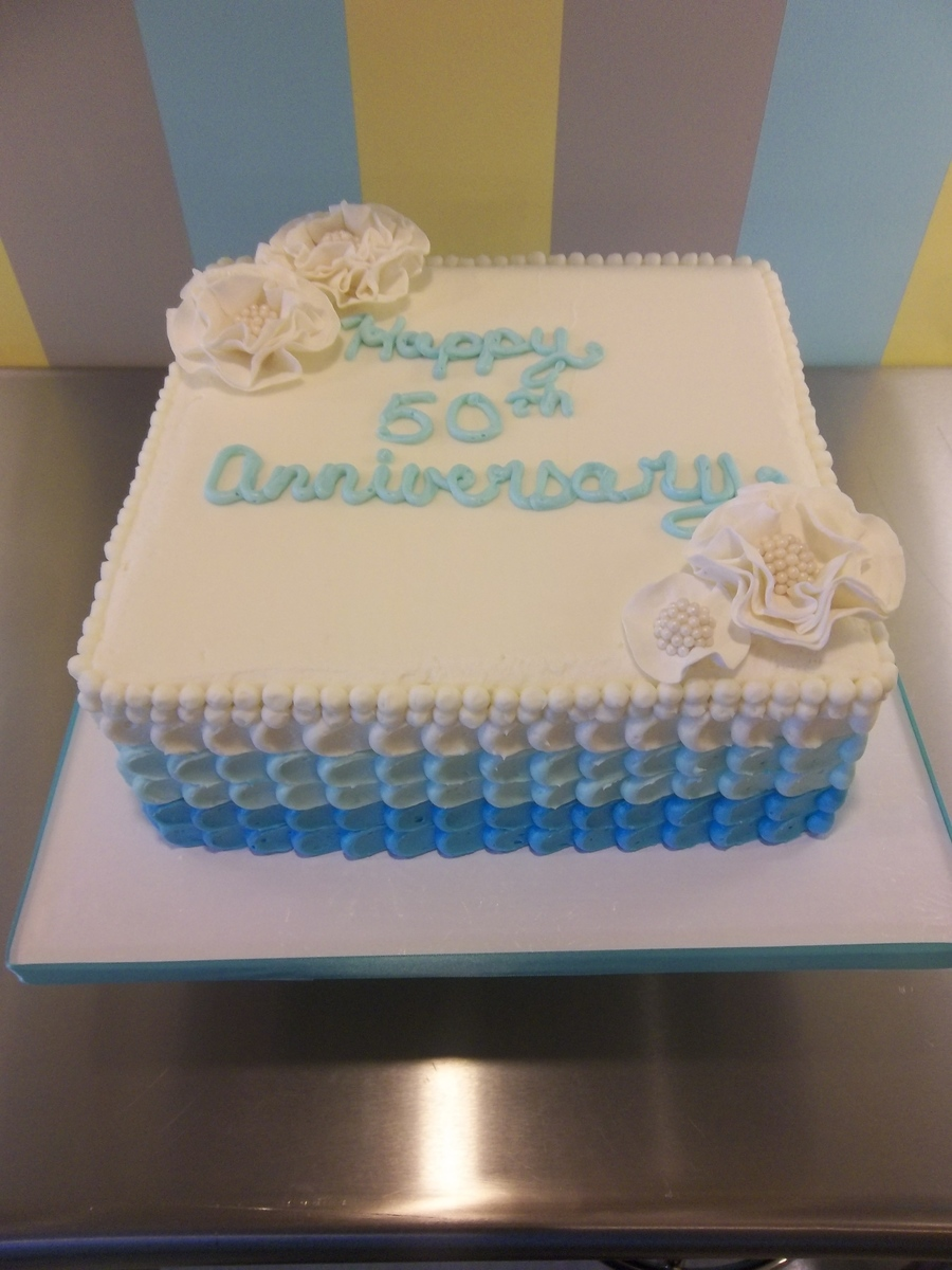 10 Square Buttercream Cake With Gumpaste Flowers