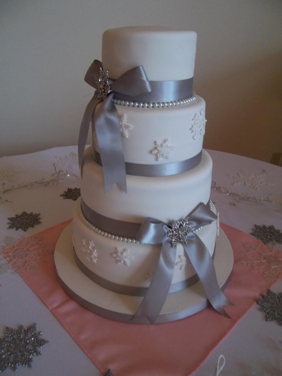 Snowflake Wedding Cake Cakecentral Com
