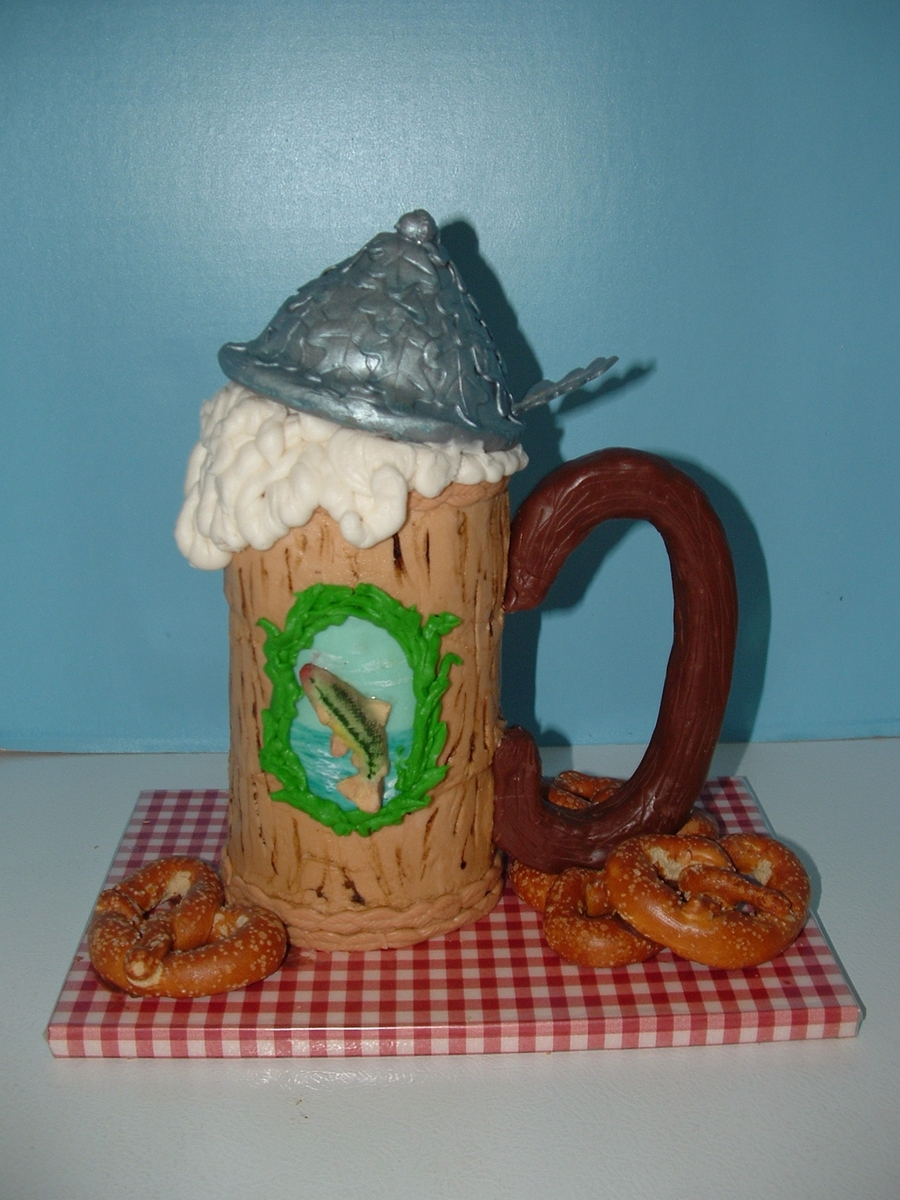 Fisherman's Beer Stein on Cake Central