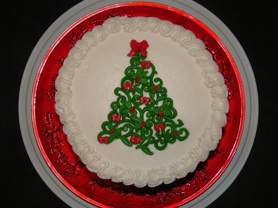 Scroll Christmas Tree on Cake Central