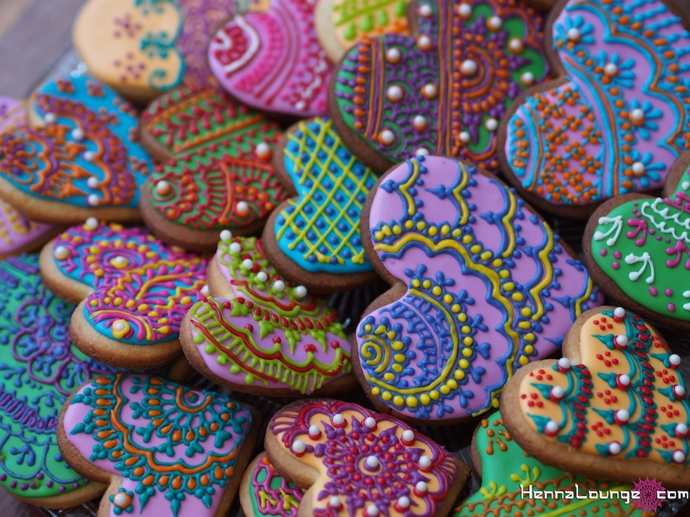 Mehndi Cake Recipe : Henna heart cookies cakecentral