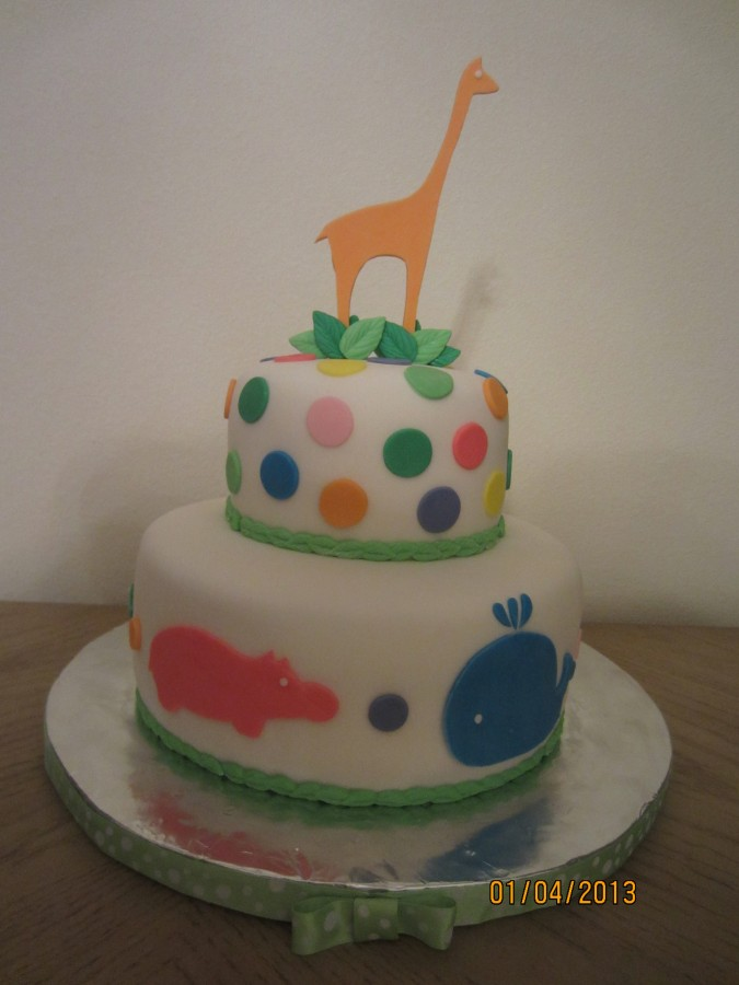 A Fondant Baby Shower Cake For A Boy  on Cake Central