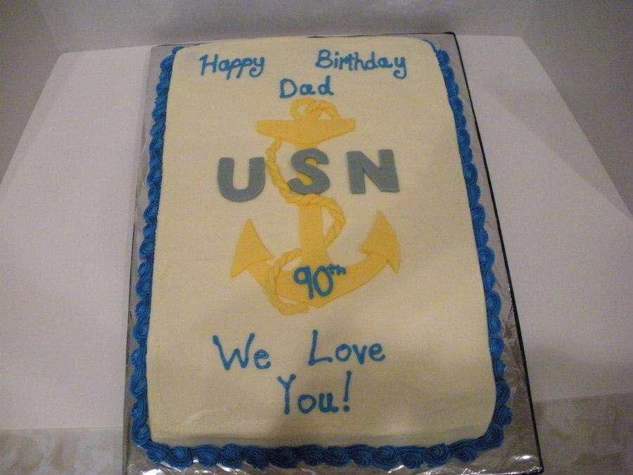 Swell Retired Vet Navy Birthday Cake Cakecentral Com Funny Birthday Cards Online Inifodamsfinfo
