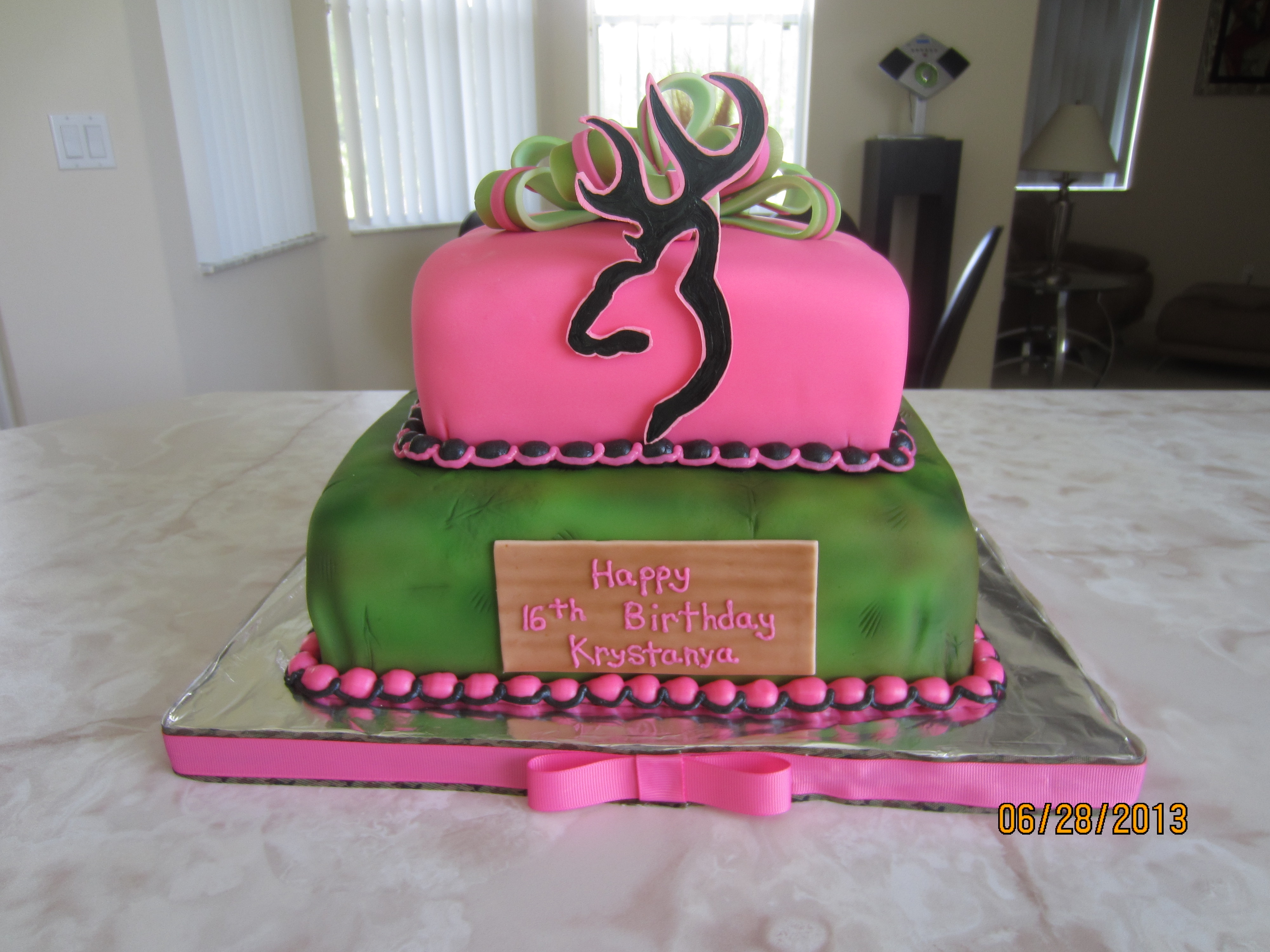 Camouflage Country Girl Birthday Sweet Sixteen Cakecentral