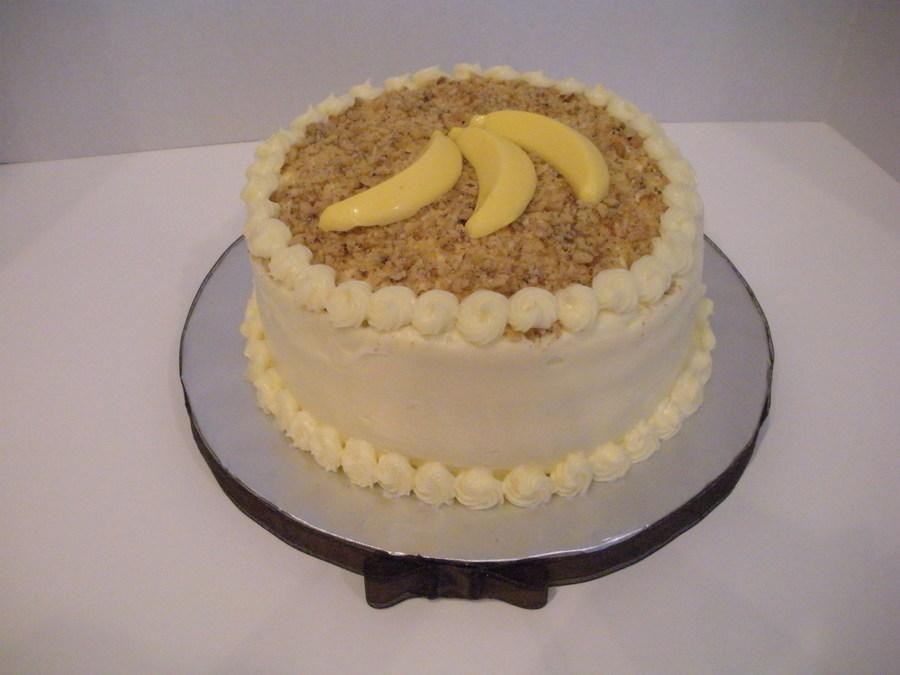 Fabulous Banana Cream Birthday Cake Cakecentral Com Funny Birthday Cards Online Elaedamsfinfo
