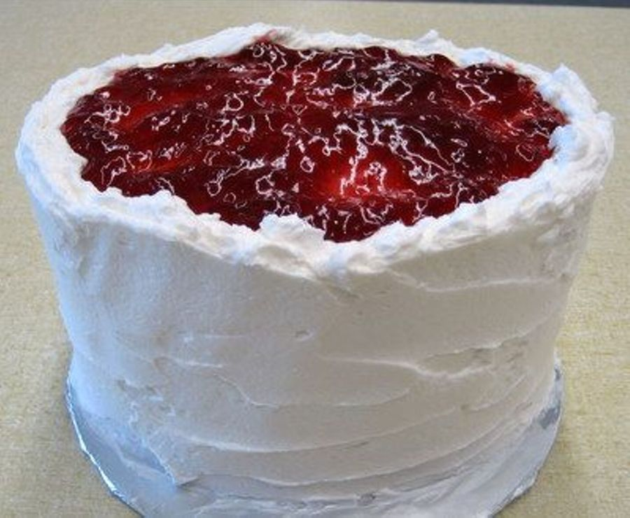 Strawberry Topped Cake on Cake Central